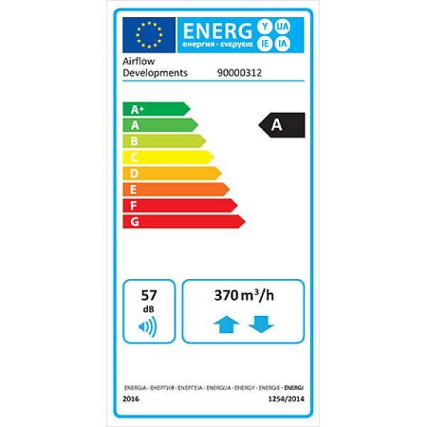 airflow bv400 erp product label
