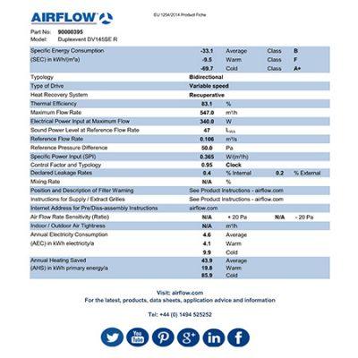 airflow dv145 erp product fiche