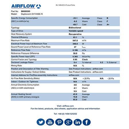 airflow DV145SE erp product fiche