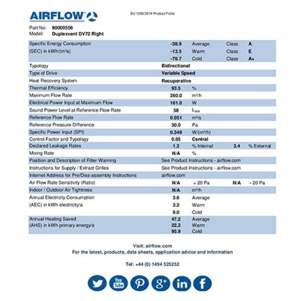 Airflow DV72 erp product fiche