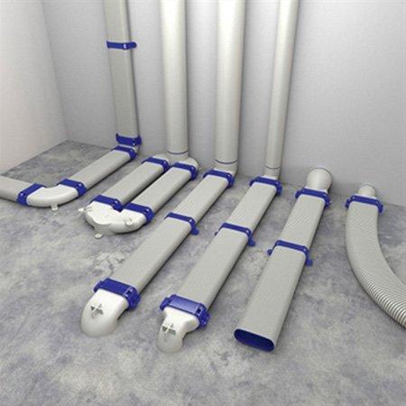 renson easyflex semi rigid duct system 3d render