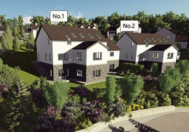 Graphics picture of housing development plans