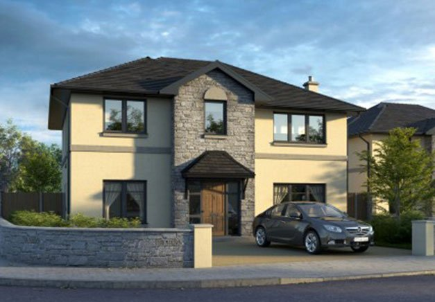 Two-storey detached house development plan