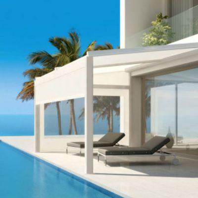 Aerhaus outdoors lagune overlooking swimming pool